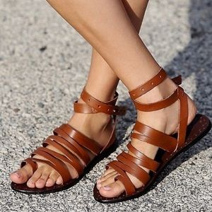 Free People | Sunever Ankle Wrap Leather Sandals